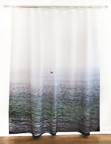 Sailboat Shower Curtain Design By Elise Flashman