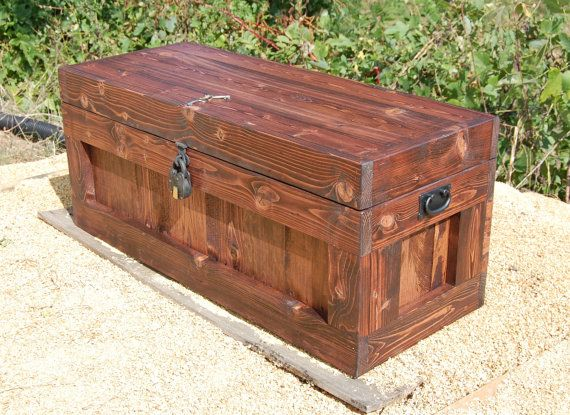 Chest With Lock Hope Chest Wooden Trunk By Looneybintradingco Wooden Trunks Wooden Chest Hope Chest