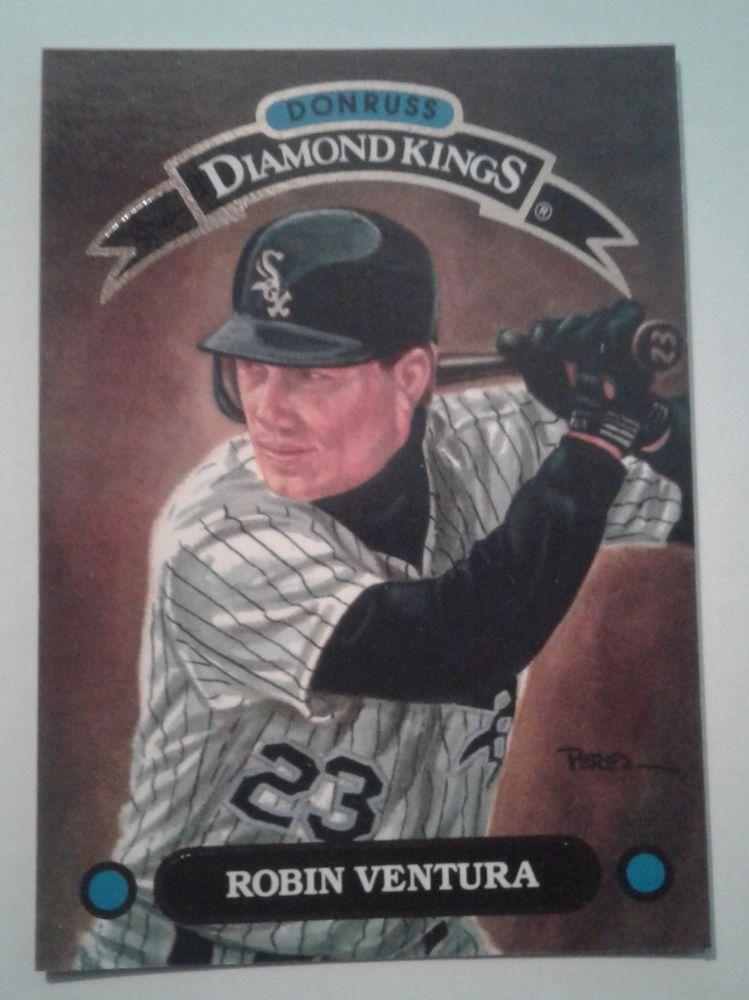 Robin Ventura 1992 Donruss Diamond Kings Card Dk10