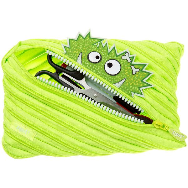 ZIPIT® Lime Talking Monster Jumbo Pencil Case ($7.99) ❤ liked on Polyvore featuring home, home decor and office accessories