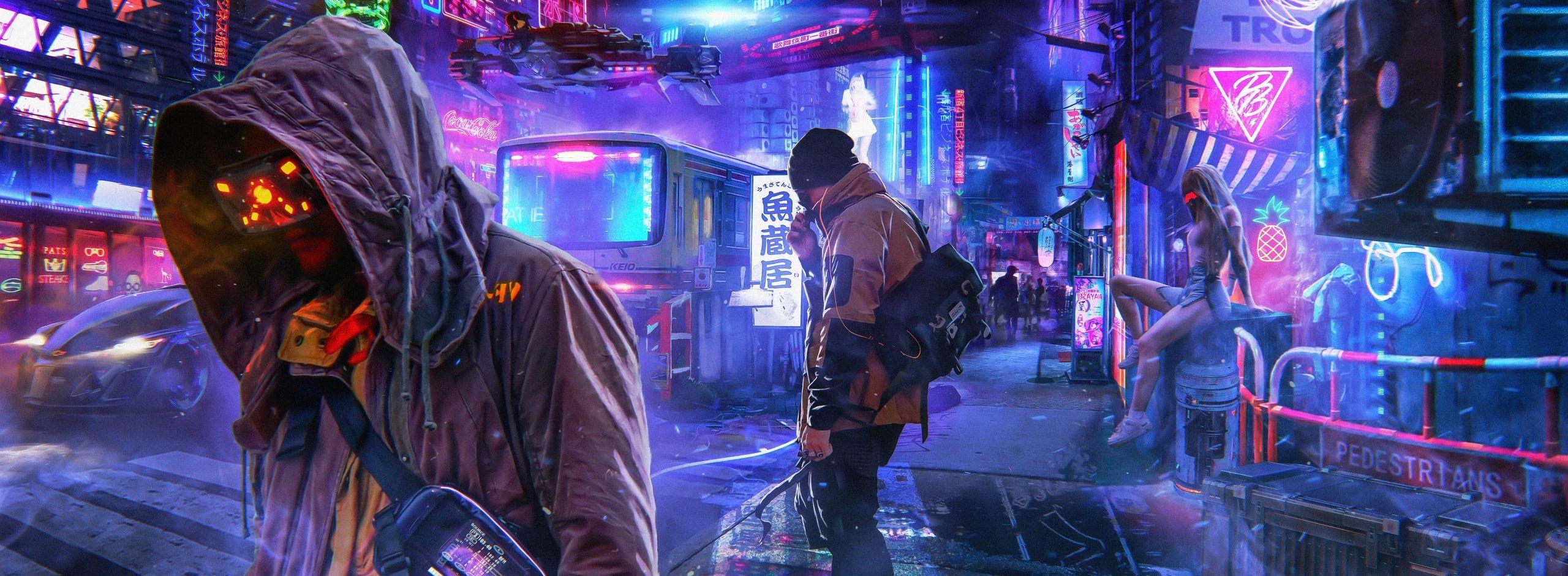 Digital Art Photoshop Concept Art Futuristic Futuristic City Cyberpunk Neon Neon Lights People Pavel Bondaren Futuristic City Cyberpunk City Vaporwave Art