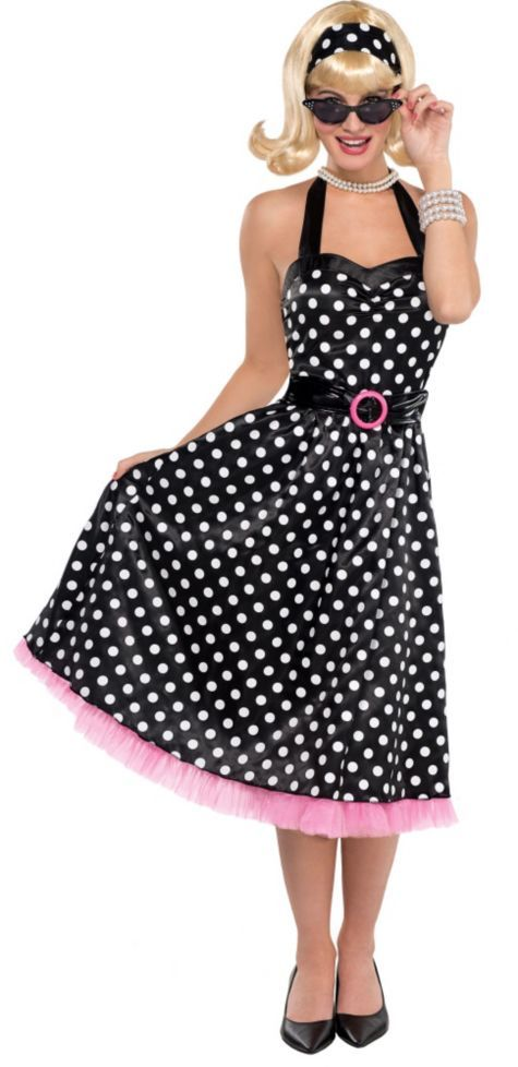 67636a1576 Polka Dot Cutie 50's Costume ($29.99) - Party City | <> Halloween ...