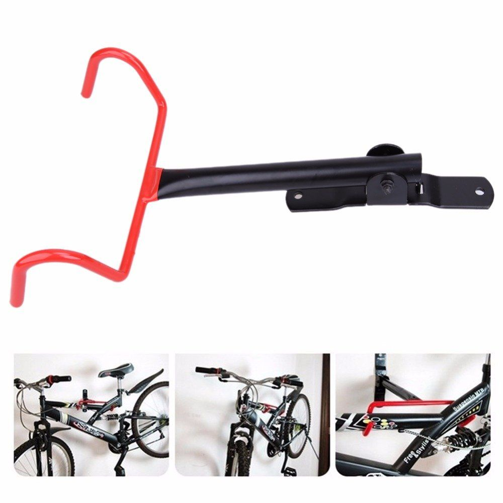 Cycling Bike Storage Garage Wall Mount Rack Hanger Bicycle Steel Hook Holder Red
