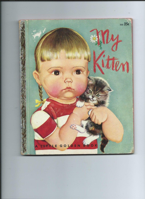 Vintage Children S Tell A Tale Book Socks Black Kitten White Paws Cat Books Animal Books Vintage Children S Books