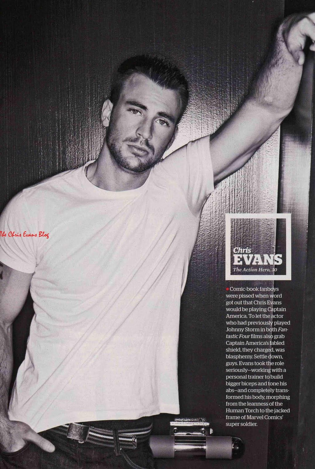 Chris Evans Captain America Workout Tattoo Pictures