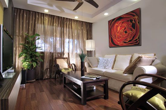 Tuscan style decorative pillows, bali living room ...