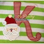 Santa Letters Applique Font Designs