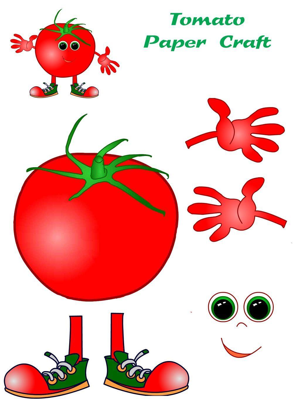 Tomato Craft Clipart Szukaj W Google Owoce Kolorowanki Dekoracje Klasowe