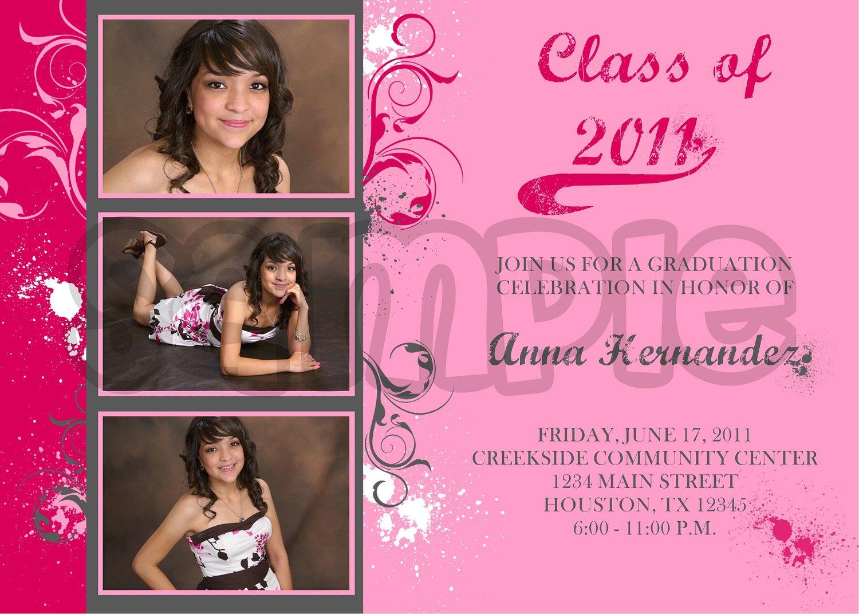 PICTURE INVITATIONS | graduation Party invitations 2011 ...