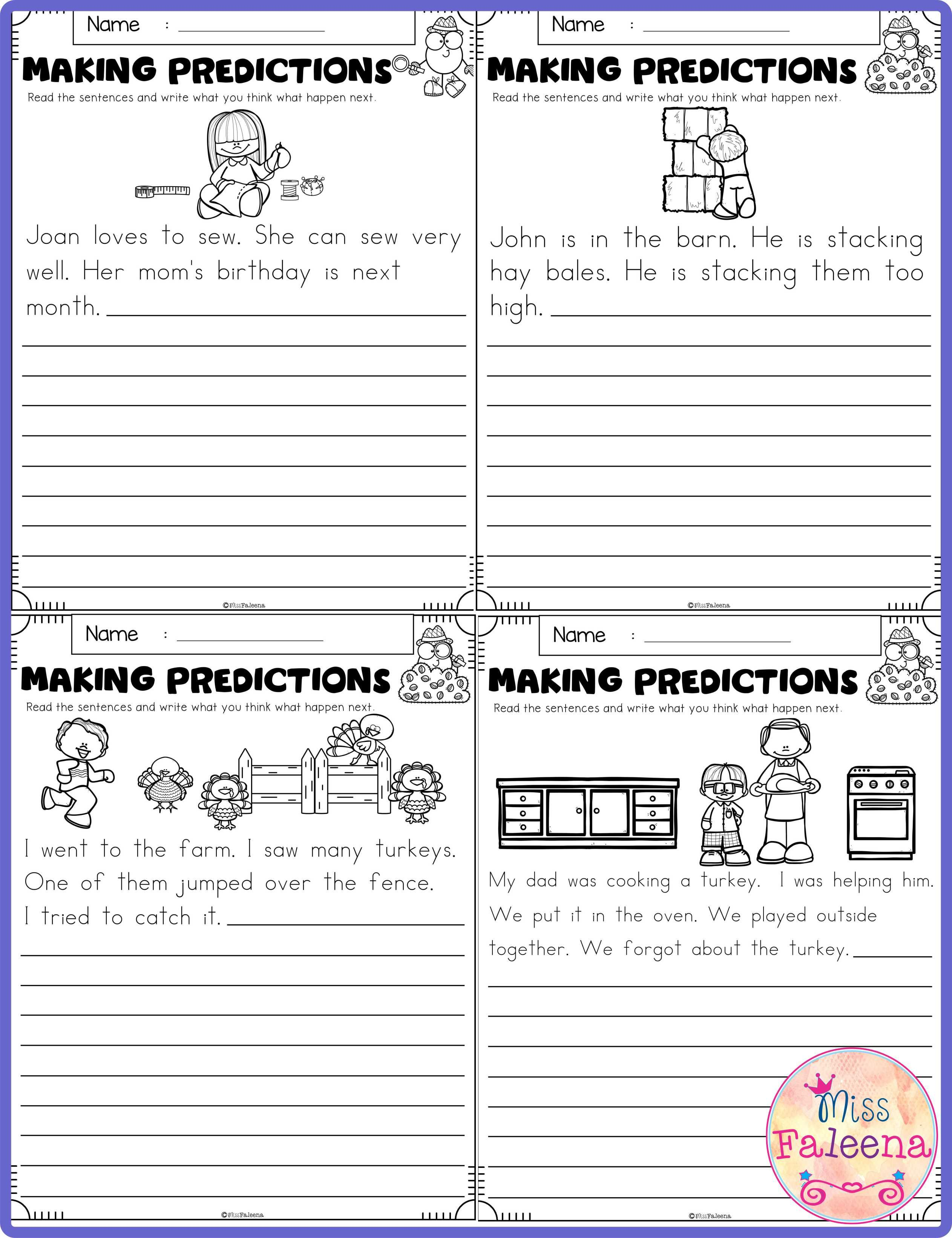 Predictions Worksheets 3rd Grade In 2020 Making Predictions First Grade Worksheets 2nd Grade Worksheets