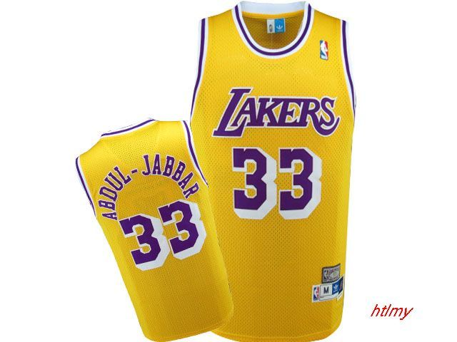 6d68d90887a NBA Los Angeles Lakers  33 Abdul-Jabbar Jersey-yellow