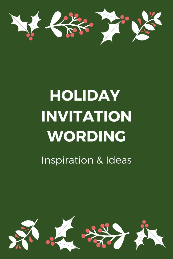Company Holiday Party Invitation Wording Examples Ideas Holiday Party Invite Wording Company Holiday Party Christmas Party Invitation Wording