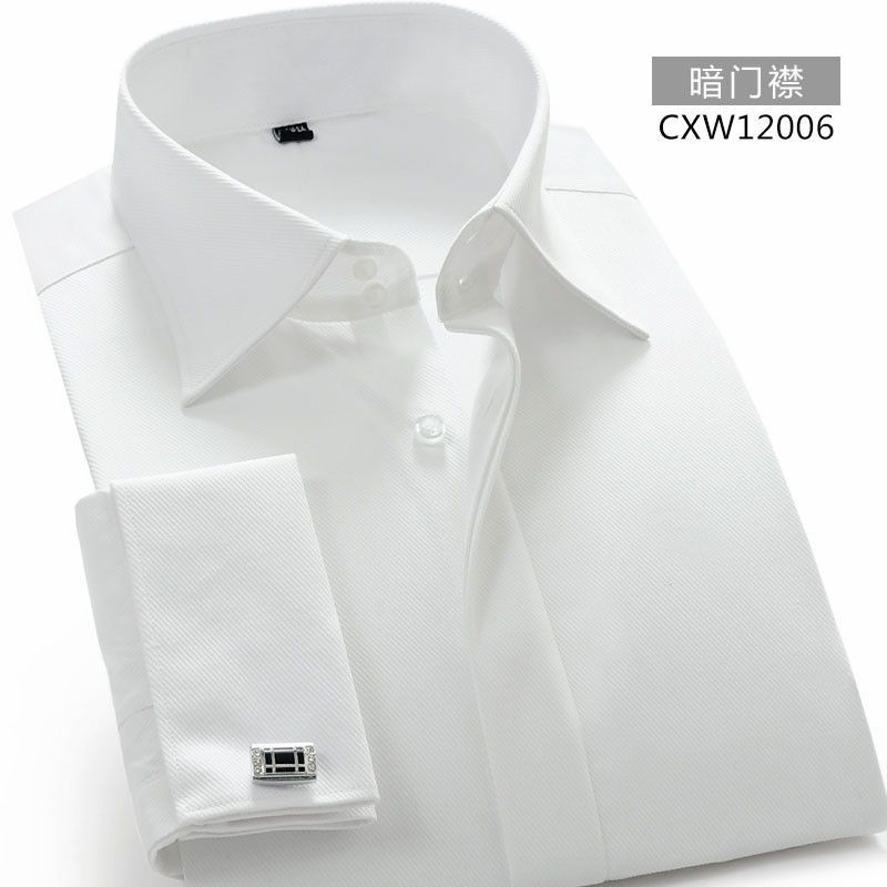 Hot Sale Designer French Cuff Dress Shirt Men White Long Sleeve Camisa Masculina High Quality Brand Clothing With Cufflinks