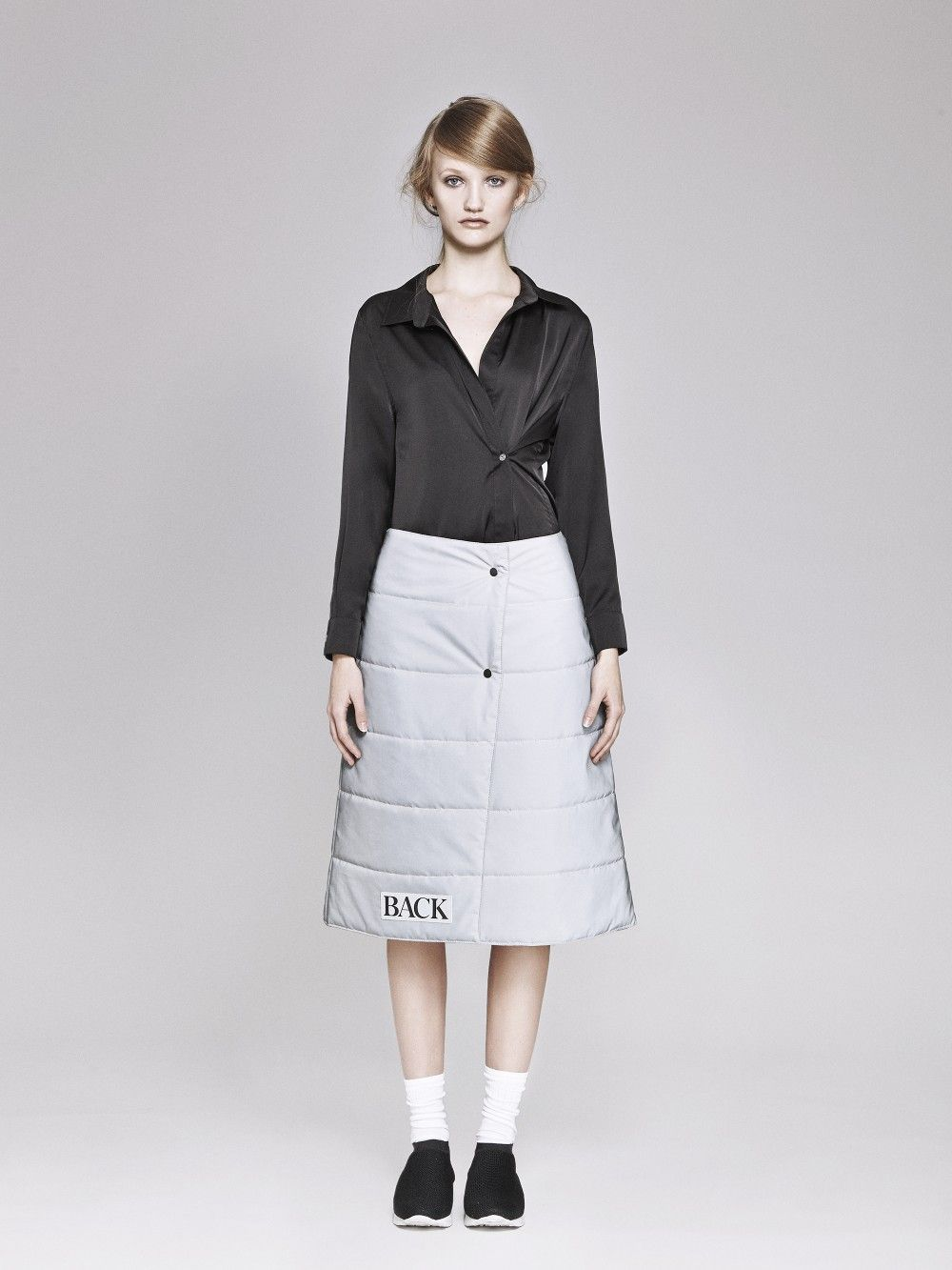 52483183 WATCH YOUR BACK REFLECTIVE PUFFA SKIRT via ANN-SOFIE BACK. Click on the  image to see more!