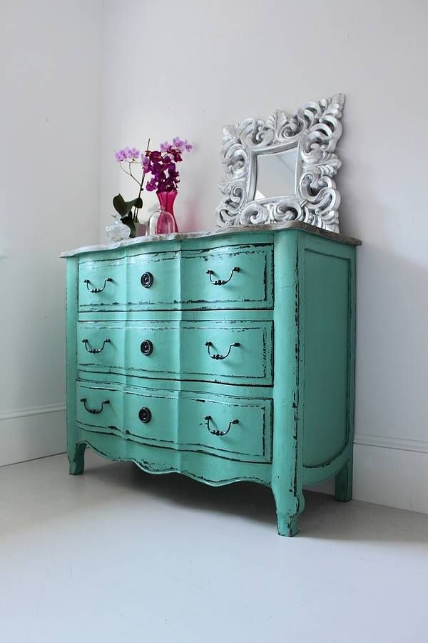 Bronwyn Turquoise Chest Of Drawers