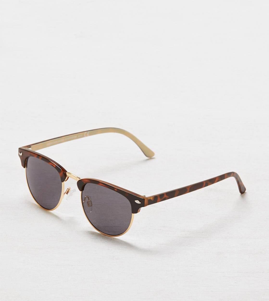 AEO Tortoise Shell Half-Rim Sunglasses