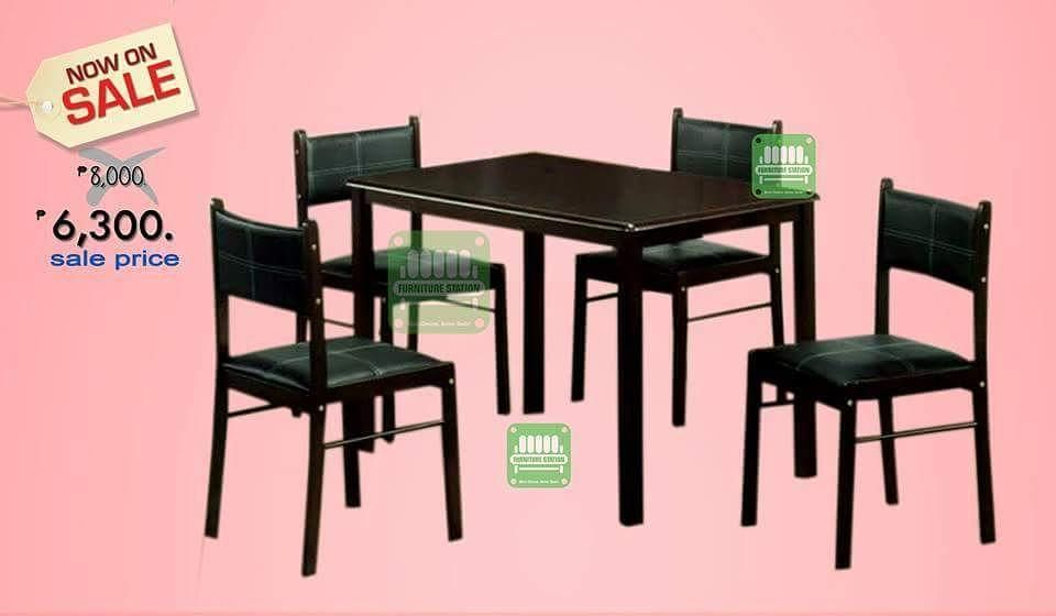 Then: 8000. Now : 6300. 4 seater Dining Set Import from Malaysia ...