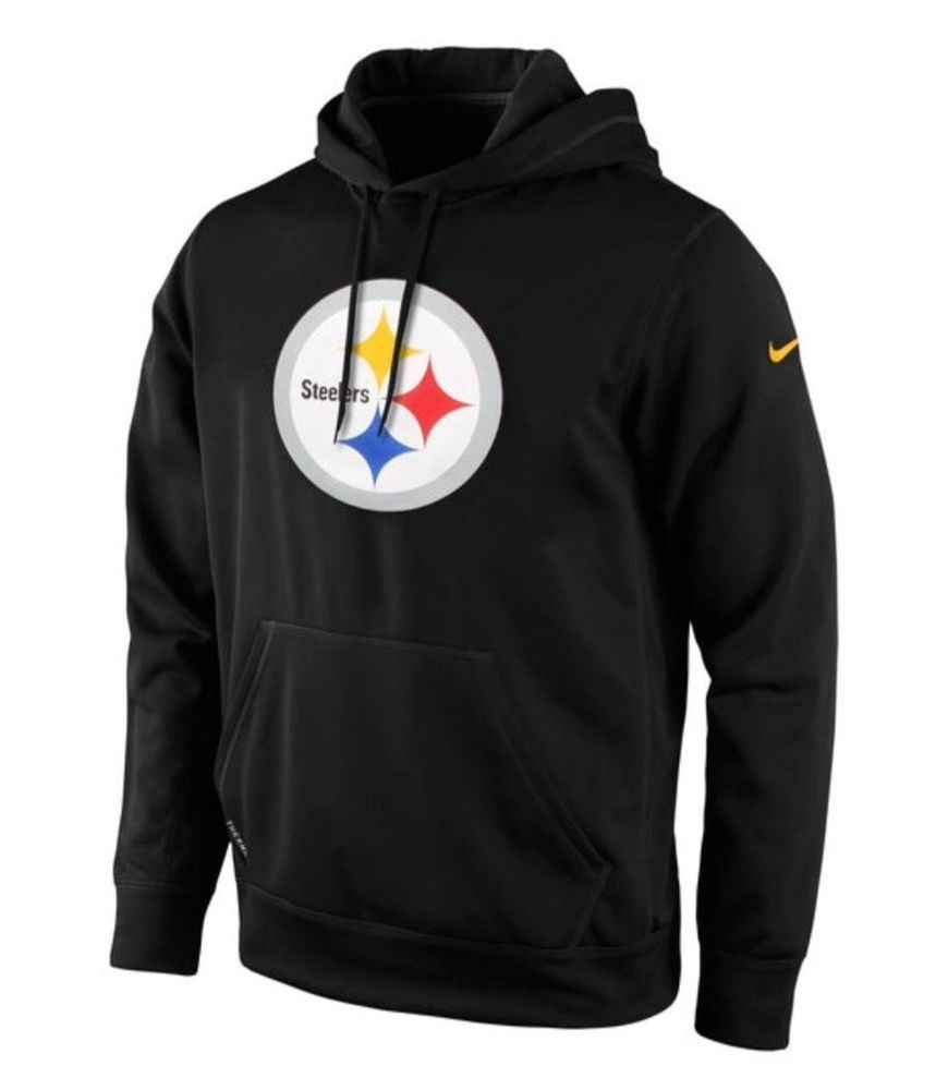 cheap for discount df5f4 0c05c Nike Pittsburgh Steelers Mens Logo Hoodie Sweatshirt M Black 743245 010   NIke