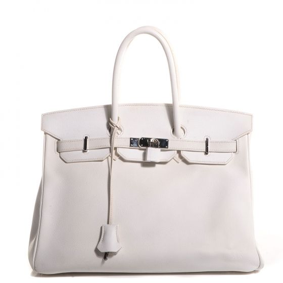 where can i buy this is an authentic hermes epsom birkin 35 in blanc white. d9c8623c5dbb0