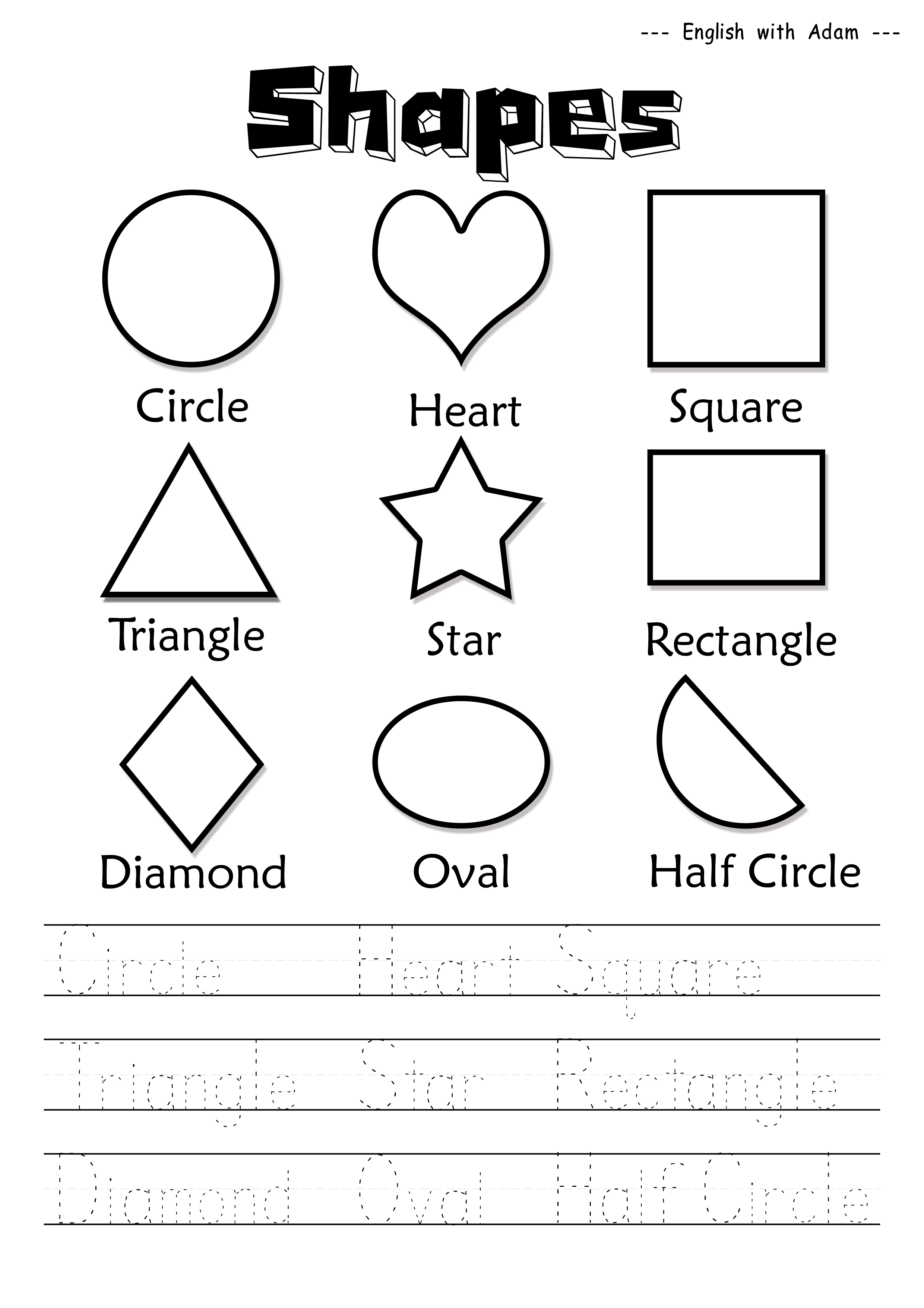 shapes done english worksheets for kids english worksheets for kindergarten. Black Bedroom Furniture Sets. Home Design Ideas