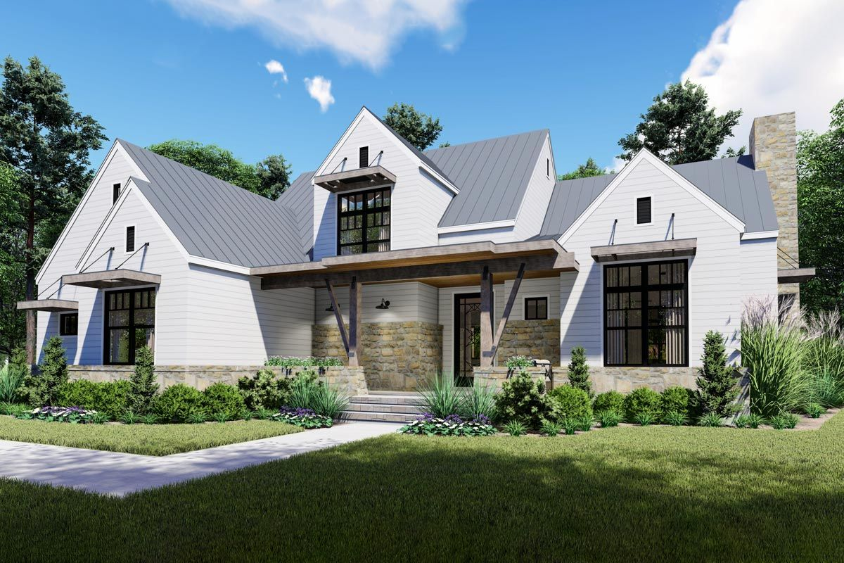 Plan 16905wg Remarkable 4 Bed Modern Farmhouse With First Floor Master And Outdoor Lanai Modern Farmhouse Plans Craftsman Style House Plans Farmhouse Style House