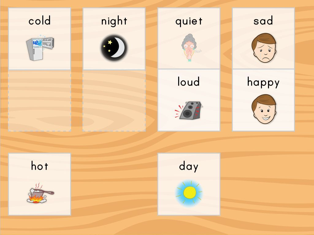 Teach Opposites With This Fun Online Game Match The Pictures That