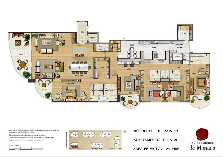 Les Residences de Monaco | 390m² | Barra da Tijuca | Rio de Janeiro