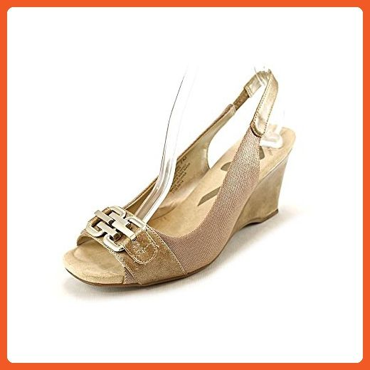 e04e6634939 Anne Klein Sport Peregrine Womens Fabric Wedges Heels Shoes Gold Size 9 M -  Pumps for