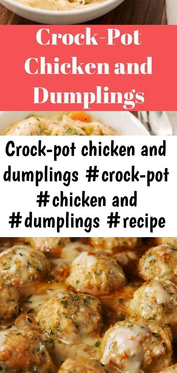 Crock-pot chicken and dumplings #crock-pot #chicken and #dumplings #recipe #meals 8 #chickendumplingscrockpot Crock-Pot Chicken and Dumplings #Crock-Pot #Chicken and #Dumplings #Recipe #Meals We think everything can be improved by adding meatballs to it. Even French onion soup. It turns an appetizer soup into a full meal, and don't worry, we added even more cheese to it. Gruyère goes into the meatballs and then the whole thing gets topped with more of it before serving. And of course, there's p #chickendumplingscrockpot