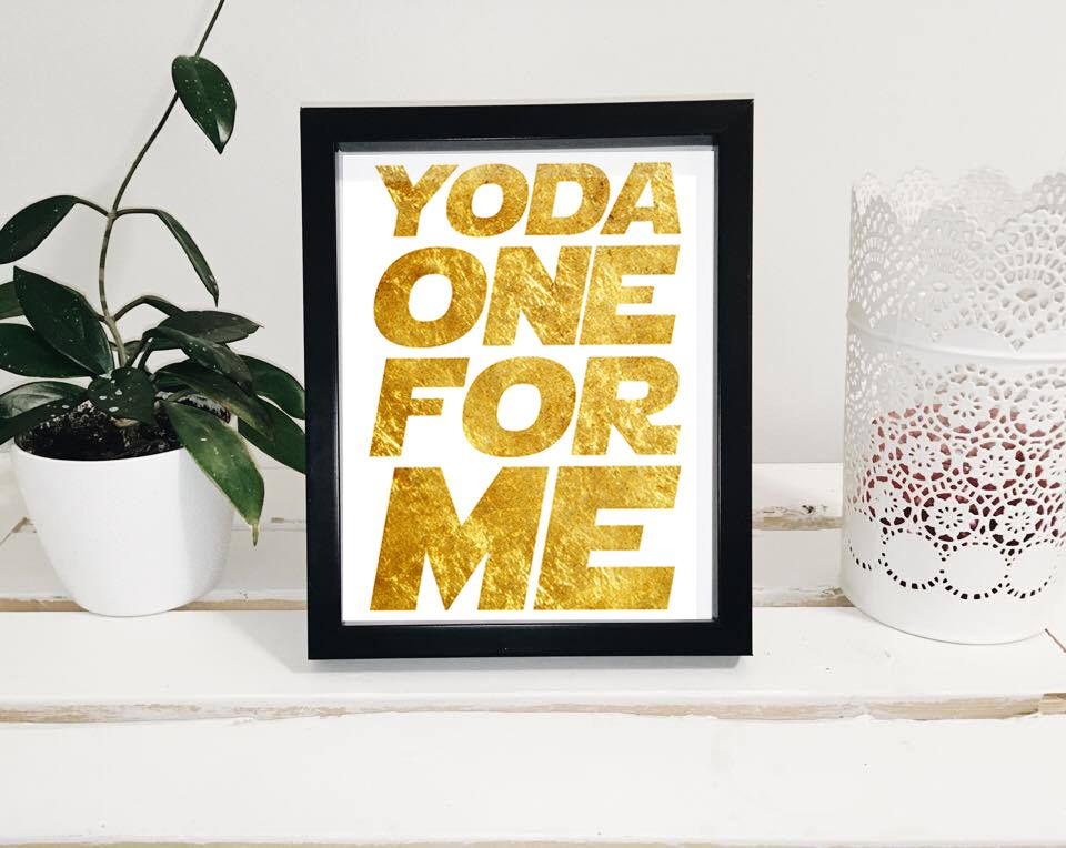 Star Wars Wall Print, Yoda One For Me, Star Wars Wall Decor, Yoda ...