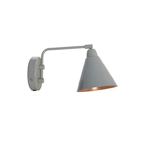 Game væglampe fra House Doctor i kobber og grå.  • Mål: længde: 20 cm   Fri fragt med GLS.