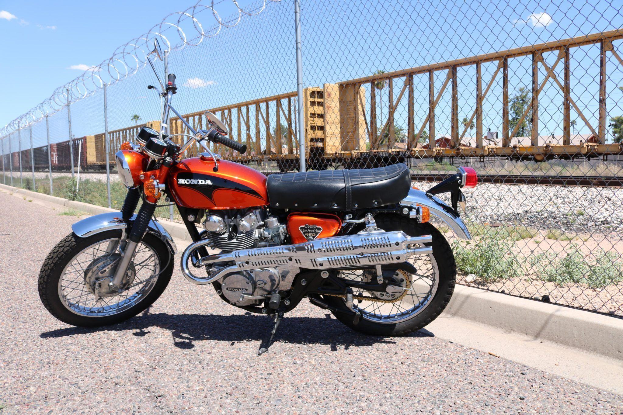 No Reserve 1971 Honda Cl450 Scrambler Honda Scrambler Scrambler For Sale [ 1365 x 2048 Pixel ]
