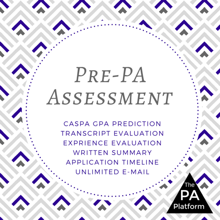 The PA Platform - Pre-PA Assessment