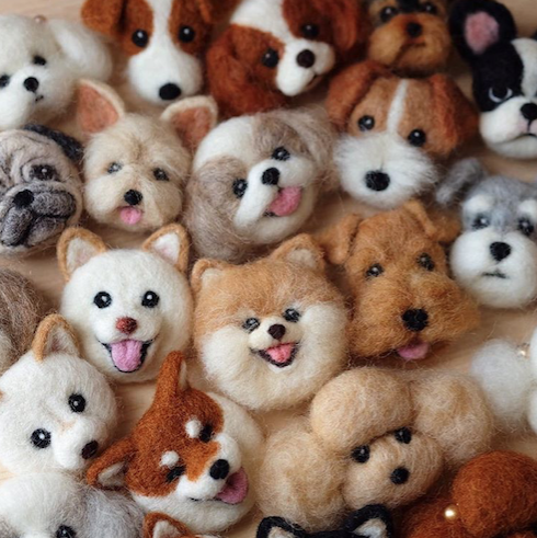 2016 9 25 Wonder Zoo Needle Felted Wool Animals Projects Inspiration Ideas Animales De Fieltro Perros De Fieltro Manualidades Animales