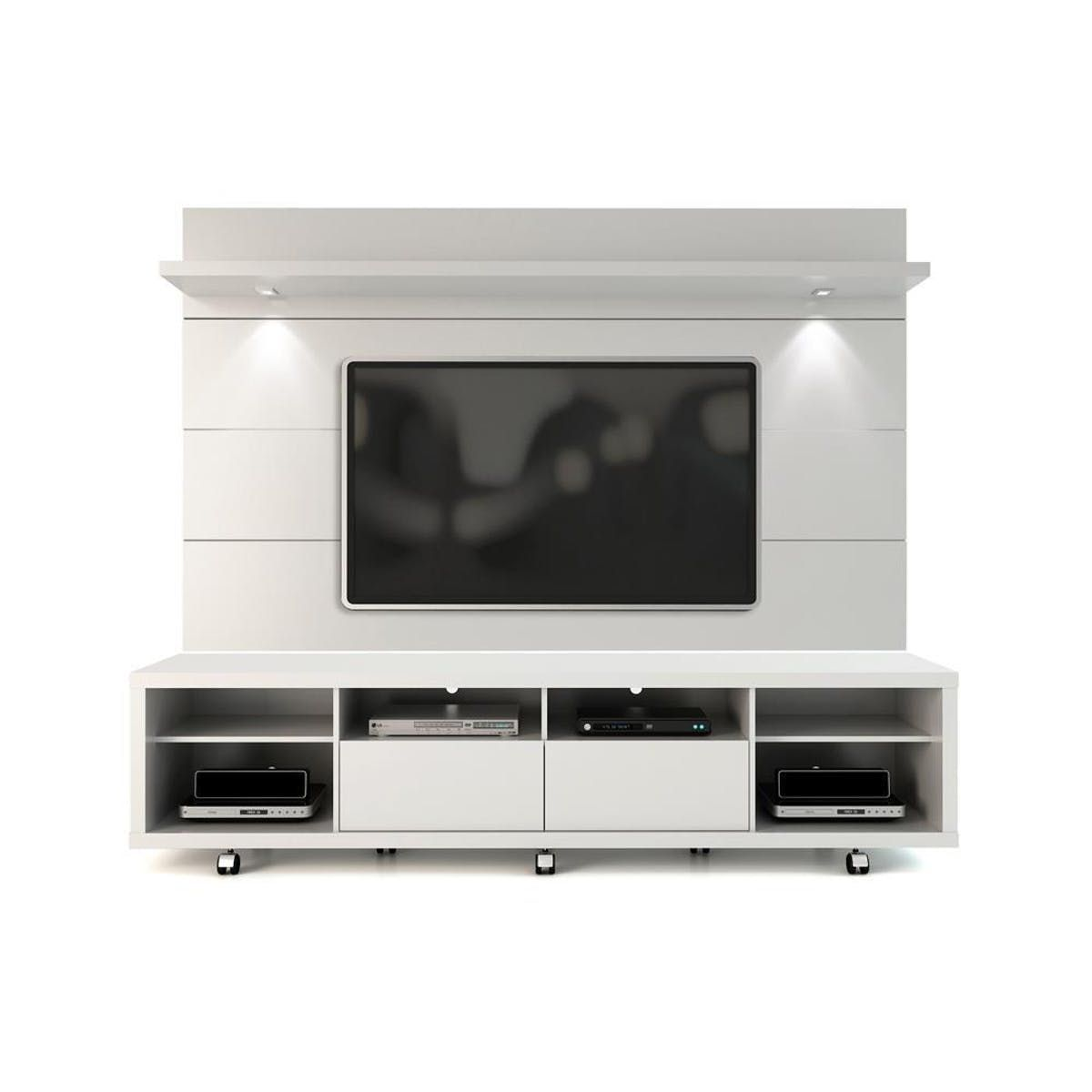 Manhattan Comfort Cabrini Tv Stand And Floating Wall Tv Panel With  # Muebles Fiasini