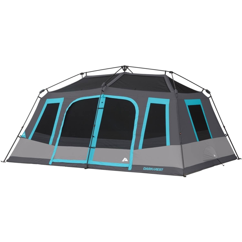 Ozark Trail 10 Person Dark Rest Instant Cabin Tent Walmart Com Cabin Tent Tent Tent Camping