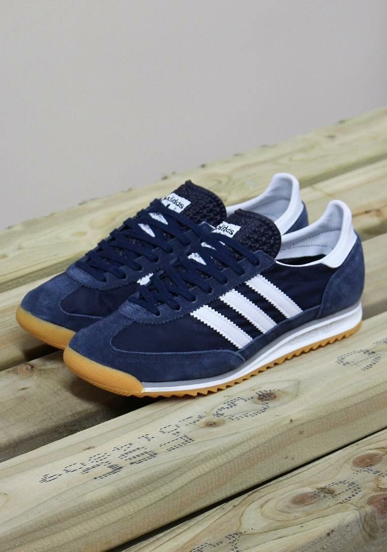 online store bd5da 76b65 adidas Originals SL 72 Navy Clothing, Shoes Jewelry  Women  adidas shoes  amzn.to2j5OwIR