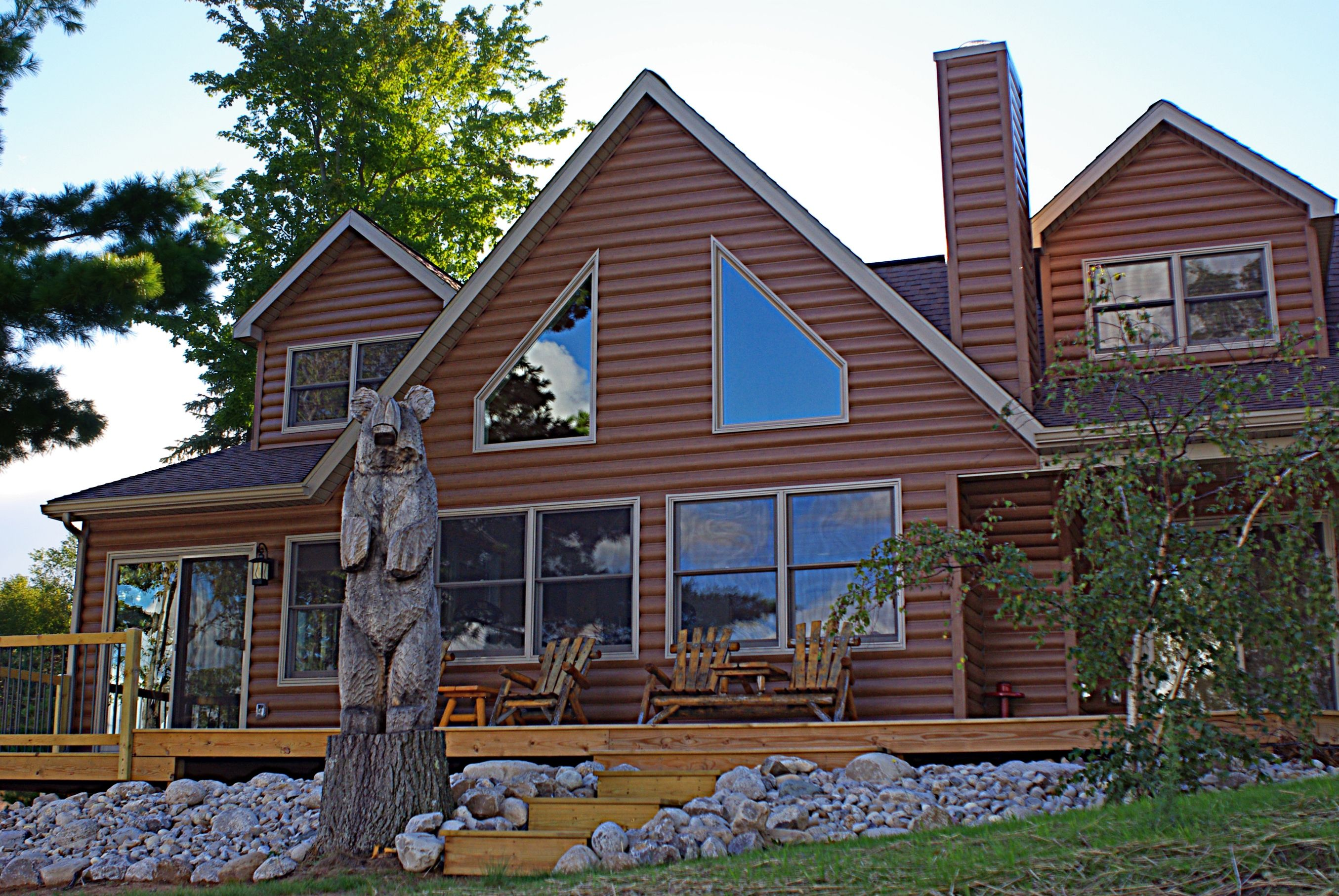 Vinyl log siding by timbermill vinyl log siding for Log siding for houses