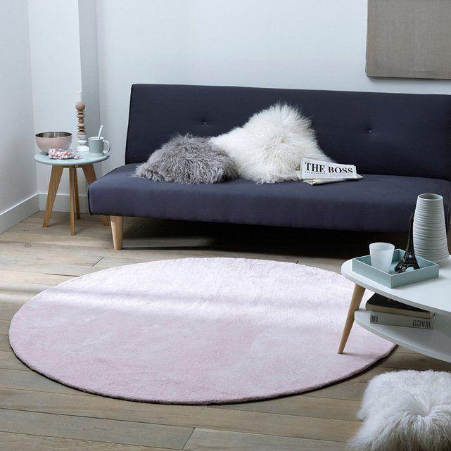 runder teppich renzo reine baumwolle la redoute. Black Bedroom Furniture Sets. Home Design Ideas