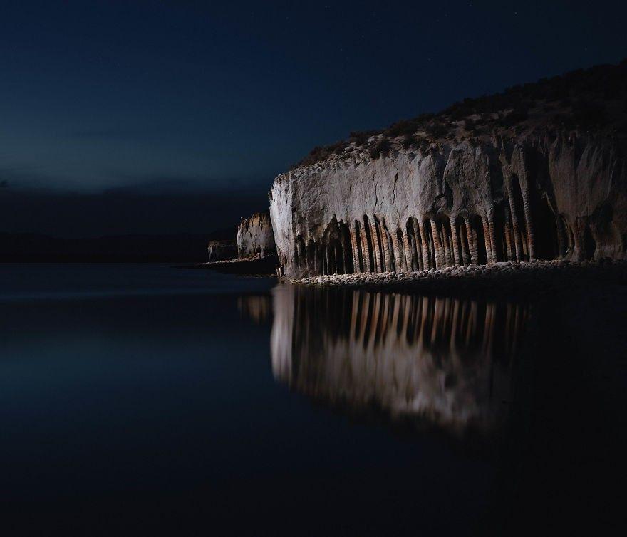 Oito fotos tiradas com drones que capturam paisagens noturnas incríveis