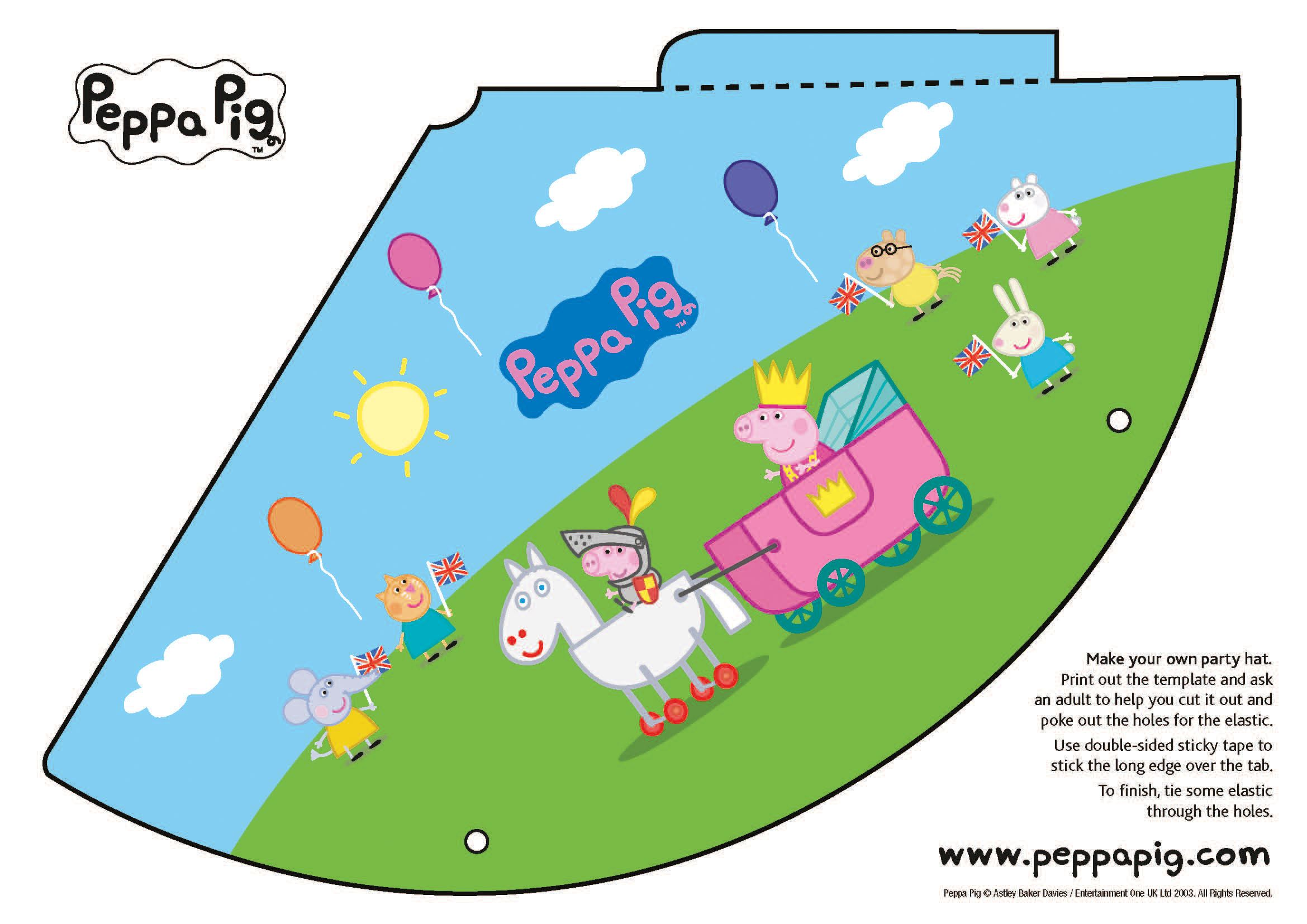 98e7204c194 Make your own Peppa Pig party hat  jubilee  peppapig