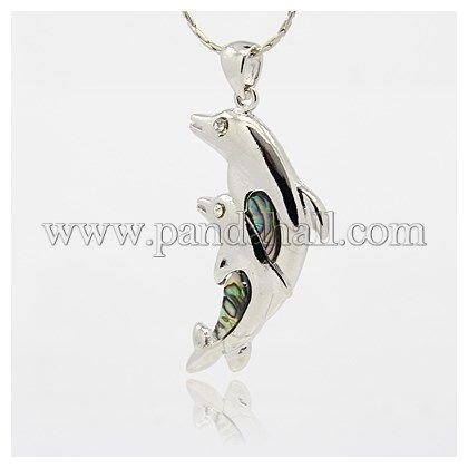 Abalone/Paua Shell PendantsSSHEL-J019-06-1