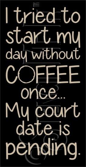 My Day Without Coffee Kitchen Stencil | Stencil Me In #coffeequotes