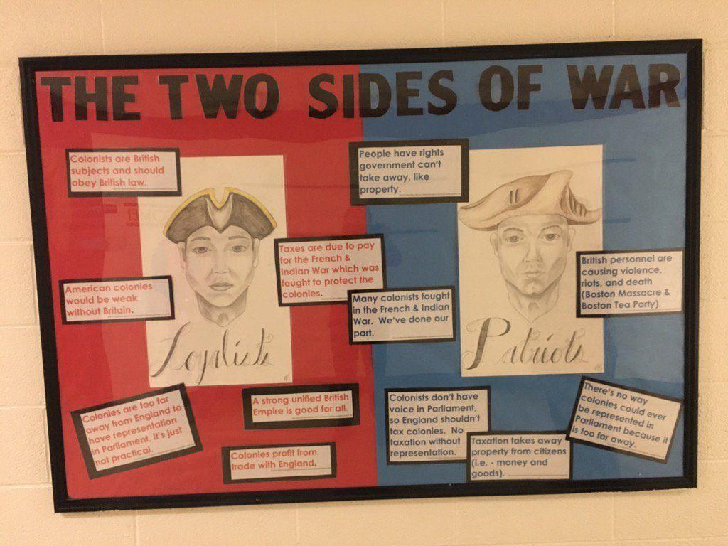 Image Result For Loyalists Vs Patriots Bulletin Boards History Bulletin Boards Teaching Organization Bulletin Boards