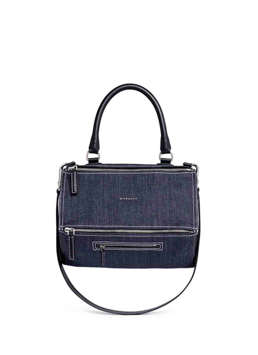 c140a5ebfeaa5 GIVENCHY  Pandora  medium  denim  bag.