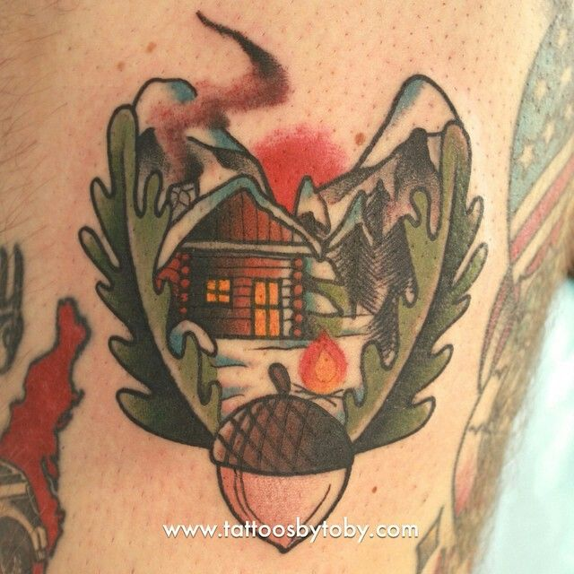 Forest tattoo mountain