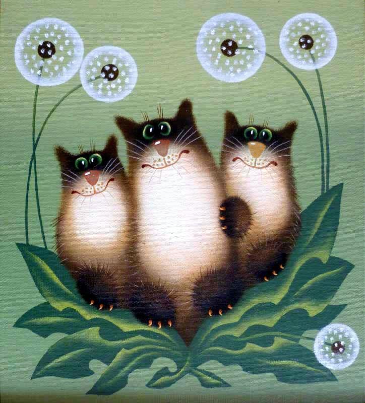 Новым, открытки с котятами прикольные нарисованные