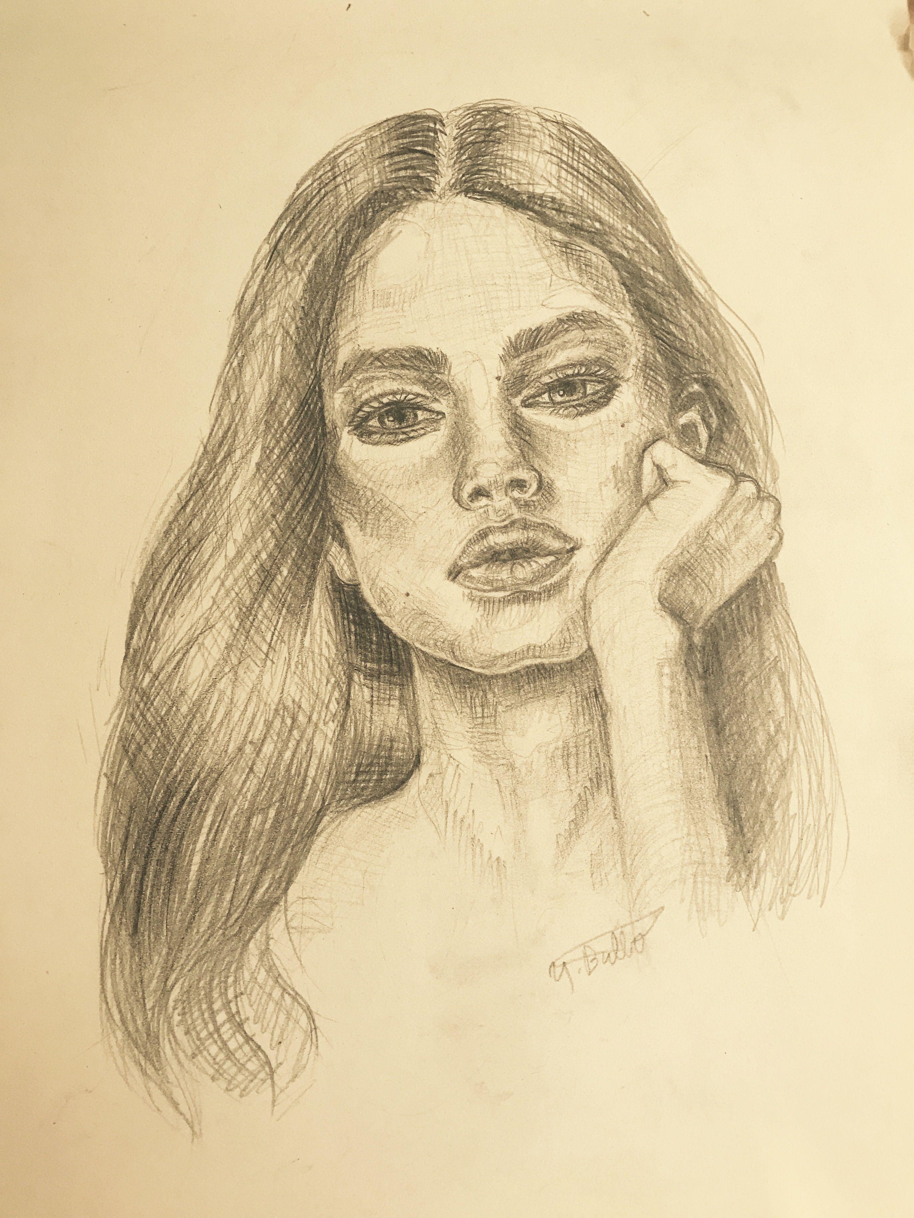 Sketch pencil drawing artwork by yasmine bulbol artportraitdrawing pencildrawingblackandwhiteartistsketchyasminebulbol