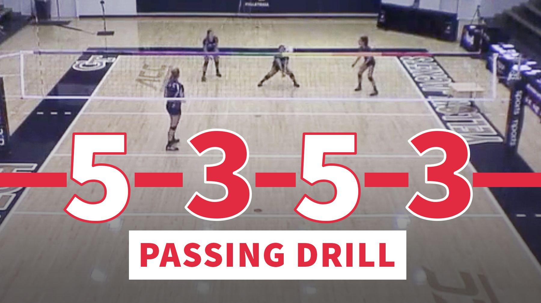 5 3 5 3 Passing Drill With Terry Liskevych Exercicios De Voleibol E Voleibol