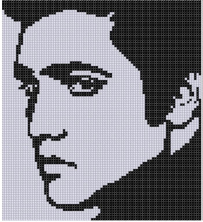 Elvis 2 Cross Stitch Pattern | Omas häkelquadrate, Muster und Diy häkeln
